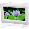 Фоторамка 7″ Wide Screen TFT LCD Desktop Digital Photo Frame with SD/MMC/TV Out — White